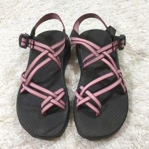 Chaco zx2 sandals pink purple Women's sz 9 wide